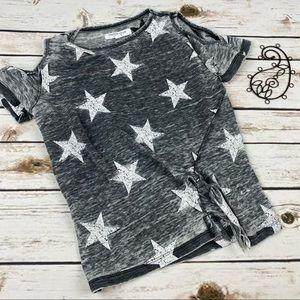 Grayson Social T-Shirt Cold Shoulder Stars